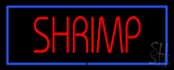 Shrimp Blue Border LED Neon Sign