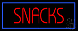 Red Snacks with Blue Border LED Neon Sign