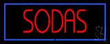 Red Sodas with Blue Border Neon Sign