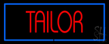 Red Tailor with Blue Border LED Neon Sign