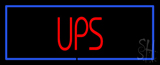 Ups Block Blue Border LED Neon Sign
