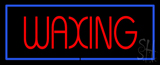Red Waxing Blue Border LED Neon Sign