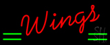 Red Cursive Wings LED Neon Sign