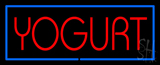 Red Yogurt with Blue Border LED Neon Sign