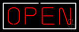 Open - Horizontal Red Letters with White Border LED Neon Sign