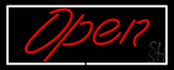 Script Open WR LED Neon Sign