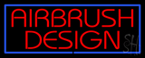 Red Airbrush Design with Blue Border  LED Neon Sign
