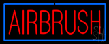 Red Airbrush with Blue Border LED Neon Sign
