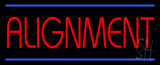 Red Alignment Blue Lines LED Neon Sign