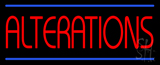 Red Alterations Blue Lines LED Neon Sign