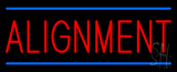 Alignment Blue Lines Neon Sign