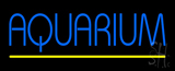 Blue Aquarium Yellow Line LED Neon Sign
