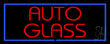 Red Auto Glass Blue Rectangle LED Neon Sign