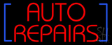 Red Auto Repairs Block LED Neon Sign