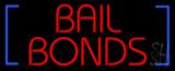 Red Bail Bonds Blue Brackets LED Neon Sign