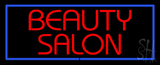 Red Beauty Salon with Blue Border LED Neon Sign