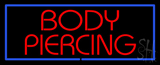 Red Body Piercing Red Border Neon Sign