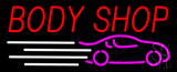 Red Body Shop Car Logo Neon Sign