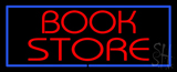 Red Book Store with Blue Border LED Neon Sign