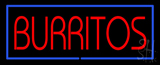 Red Burritos with Blue Border LED Neon Sign