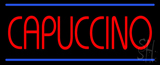 Red Cappuccino Blue Lines LED Neon Sign