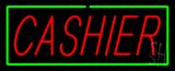Cashier Neon Sign with Green Border
