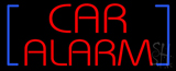 Red Car Alarm with Blue Brackets LED Neon Sign