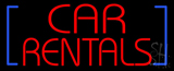 Red Car Rentals LED Neon Sign