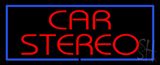 Red Car Stereo Blue Border LED Neon Sign