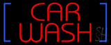Red Car Wash Neon Sign