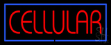 Red Cellular with Blue Border LED Neon Sign