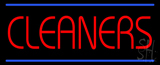 Red Cleaners Neon Sign