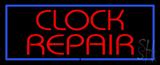 Red Clock Repair LED Neon Sign
