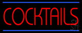 Red Cocktail LED Neon Sign