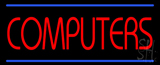 Red Computers Blue Lines LED Neon Sign