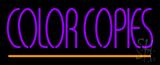 Purple Color Copies LED Neon Sign