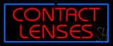 Red Contact Lenses Blue Border LED Neon Sign