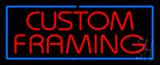 Red Custom Framing Blue Border LED Neon Sign