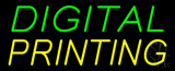Green Yellow Digital Printing Neon Sign