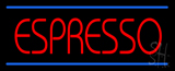 Red Espresso with Blue Lines LED Neon Sign