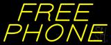 Yellow Free Phone Neon Sign
