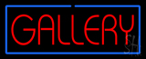 Red Gallery Blue Border Neon Sign