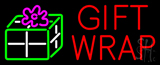 Red Gift Wrap with Logo Neon Sign
