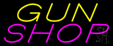 Yellow Gun Pink Shop Neon Sign