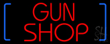 Red Gun Shop Neon Sign