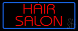 Red Hair Salon with Blue Border LED Neon Sign