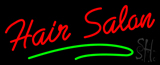 Red Hair Salon Green Line Neon Sign