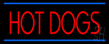 Red Hot Dogs Blue Lines LED Neon Sign