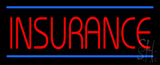 Red Insurance Blue Lines LED Neon Sign