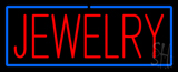 Jewelry Rectangle Blue Neon Sign